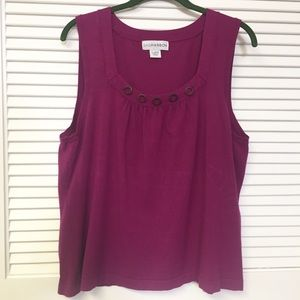 Sag Harbor Knit Top with Wood Accents